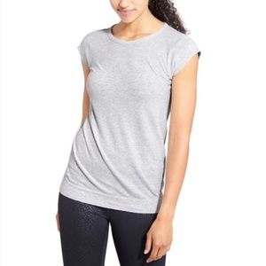 Athleta With Ease Tee In Light Gray